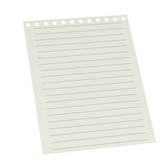 3d render of small paper for notes