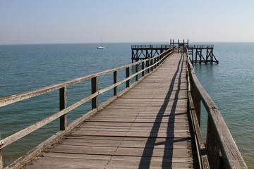 In de dag Pier jetée sur mer