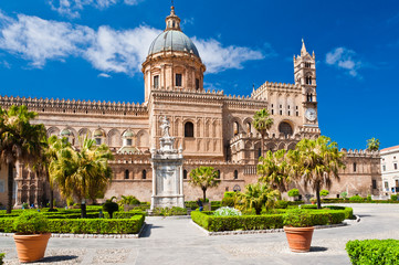 Foto op Textielframe Palermo The Cathedral of Palermo