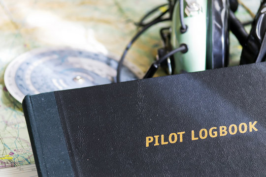 logbook and map