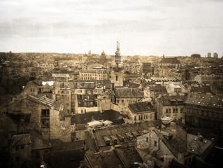 Prague. Faded postcard