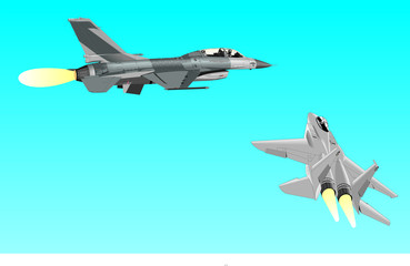 Keuken foto achterwand Militair Airplane