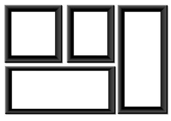 Black photo frames