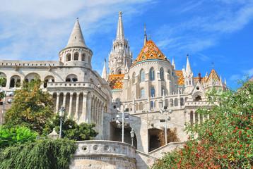 Aluminium Prints Budapest Budapest. Fisherman's Bastion and St. Matthias church