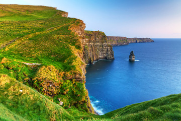 Wall Mural - Cliffs of Moher at dusk in Co. Clare, Ireland