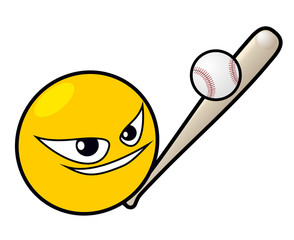 Baseball emoticon design