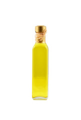 Bottle of olive oil, isolated on white background