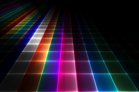 Abstract disco floor background