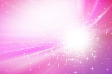 Sparkling stars on pink light  background