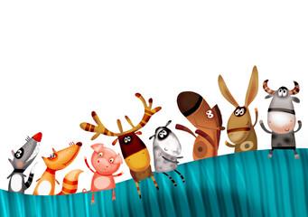Animal set background