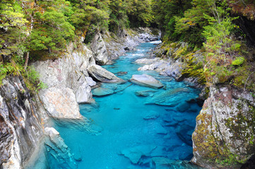 Poster Nouvelle Zélande Blue Pools in Haast Highway, New Zealand