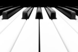 Wide angle shot of Piano Keyboard