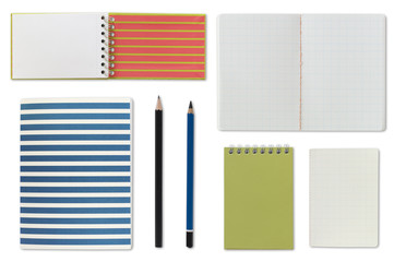 notebook notepad and blank paper
