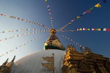 Swayambhunath pagoda the famous landmark Buddhist in Kathmandu