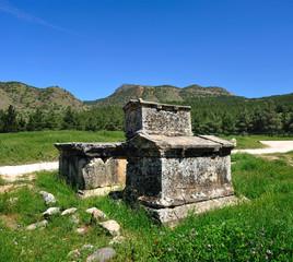 ruins of Hierapolis , Pamukkale , Turkey