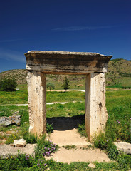 ruins of Hierapolis , Pamukkale , Turkey