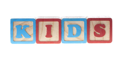 Kids wooden cubes
