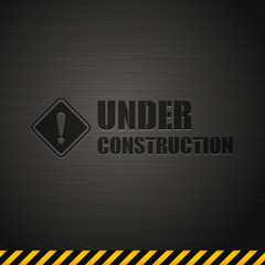 Under construction template design background. vector