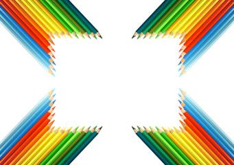 Colorful pencils frame
