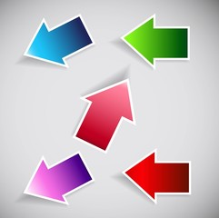 abstract new collection colorful arrows Vector