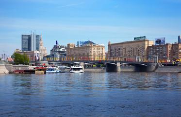 View of Moscow. Borodinsky Bridge