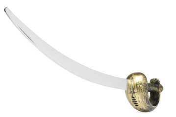 Pirate sword on white background. Clipping path included.