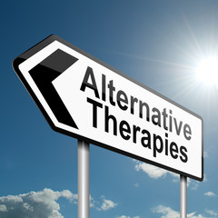 Alternative therapies concept.