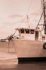 Old Shimp Boat in Florida Marina