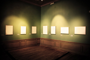 Art gallery pictures. White empy inside
