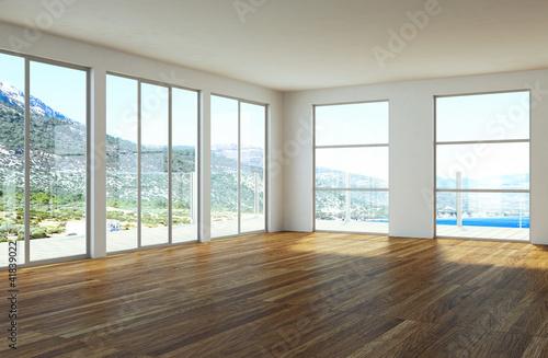 Wohndesign loft mit meerblick stockfotos und for Wohndesign 2012