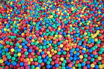 Assorted multicolored balls