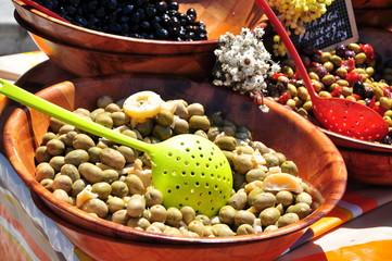 olives d'un marché de Provence