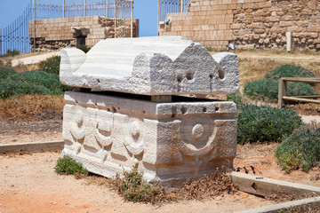 Wall Mural - The Sarcophagus in Caesarea. Israel.
