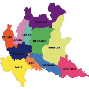 Cartina Lombardia Da Colorare.198 Best Cartina Lombardia Images Stock Photos Vectors Adobe Stock