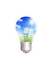 save energy concept with bulb isolated