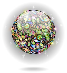 Icona Globo Cristallo Colori-Colorful Crystal Globe-Vector