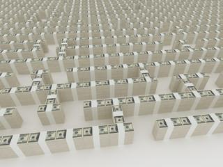 maze of stacks of dollars 2