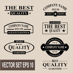 Vector set of vintage quality garanteed labels