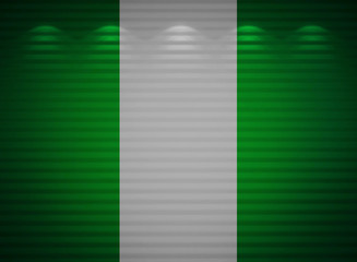 Nigeria flag wall, abstract background