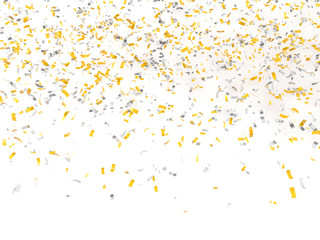festive background of confetti 3d render