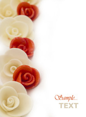 artificial roses background