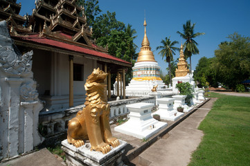 Myanmar style temple in Northern of Thailand.