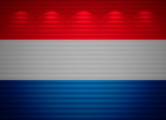 Netherlandish flag wall, abstract background