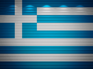 Greek flag wall, abstract background