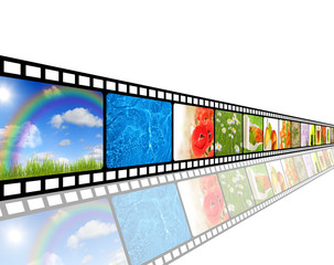 film strip and nature