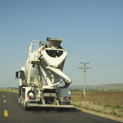 Concrete mixer truck for construction building