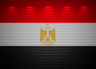 Egyptian flag wall, abstract background