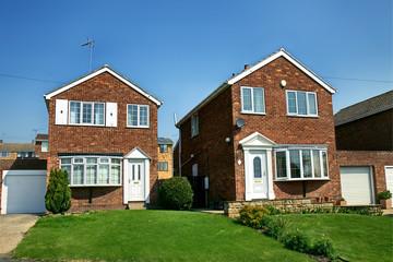 modern english brick house