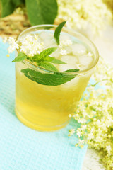 refreshing summer drink with mint