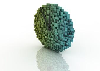 Fotobehang Pixel Pixel clock